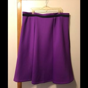 Eloquii purple and black a line skirt